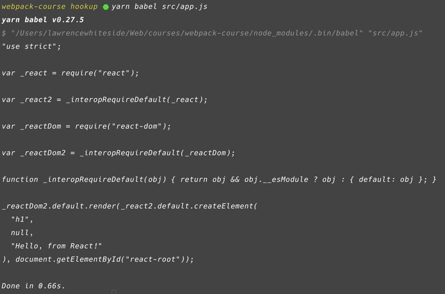 Babel JSX Output