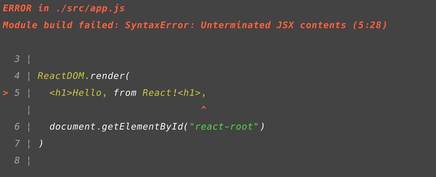 Babel JSX Error